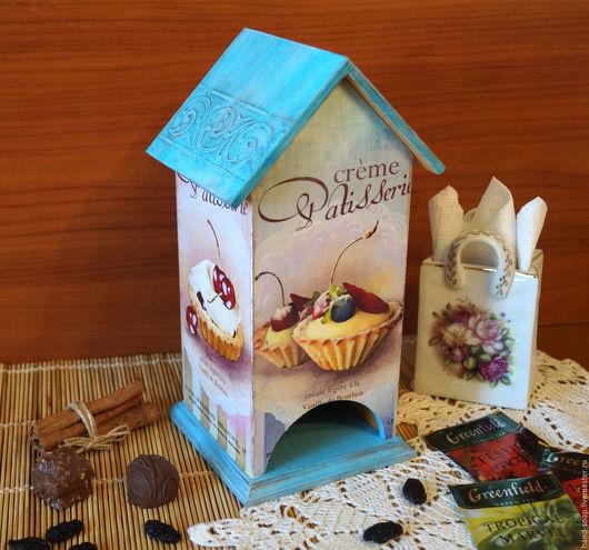 """Кухня ручной работы. Ярмарка Мастеров - ручная работа. Купить Чайный домик """"Мечта сладкоежки"""". Handmade. Комбинированный, пирожные"""