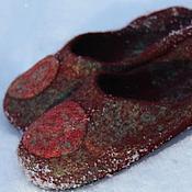 """Обувь ручной работы. Ярмарка Мастеров - ручная работа Тапочки """" Мотивы"""". Handmade."""