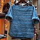 Кофты и свитера ручной работы. Ярмарка Мастеров - ручная работа. Купить морской свитер. Handmade. Синий, морской стиль