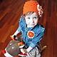 """Шапки и шарфы ручной работы. """"Оранжевое солнце"""" летняя шапка и брошь. ЮЛИЯ ВЯЗАНКА (Yuliya Vyazanka). Ярмарка Мастеров. брошь"""