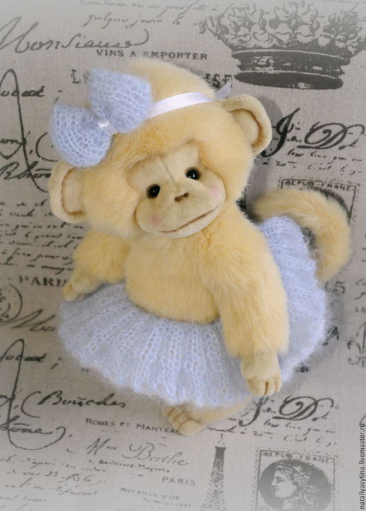 Мишки Тедди ручной работы. Ярмарка Мастеров - ручная работа. Купить Обезьянка Анфиса (обезьянка-тедди, плюшевая игрушка). Handmade.