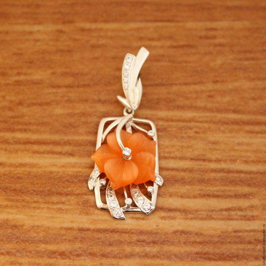 Кулоны, подвески ручной работы. Ярмарка Мастеров - ручная работа. Купить Серебряная подвеска Оранжерея, серебро 925. Handmade. Рыжий