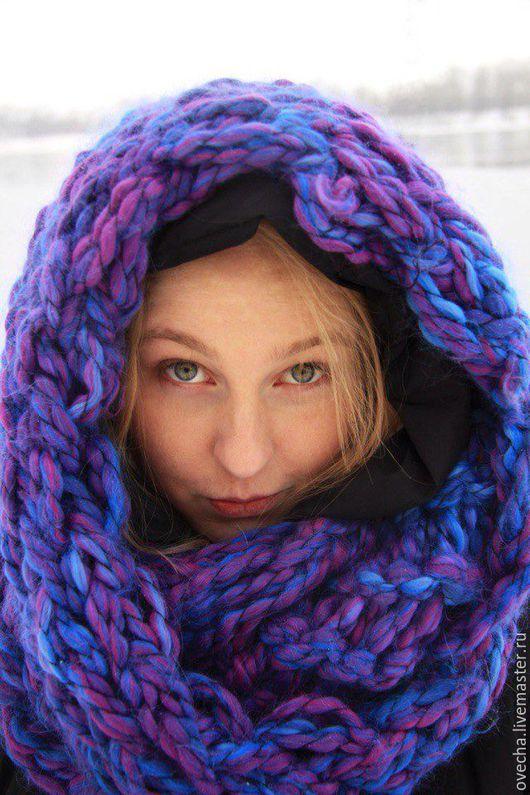 Шарфы и шарфики ручной работы. Ярмарка Мастеров - ручная работа. Купить Объемный шарф (снуд) крупной вязки. Handmade. Комбинированный