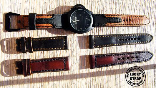 Часы ручной работы. Ярмарка Мастеров - ручная работа. Купить Ремешок для часов из натуральной кожи. Handmade. Коричневый, ремешок для часов