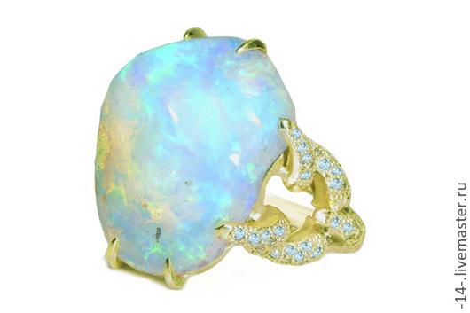 Кольца ручной работы. Ярмарка Мастеров - ручная работа. Купить кольцо с опалом свет камней. Handmade. Кольцо с опалом