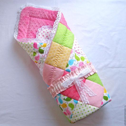 Для новорожденных, ручной работы. Ярмарка Мастеров - ручная работа. Купить Одеяло-конверт на выписку для новорожденного. Handmade.