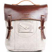 Сумки и аксессуары handmade. Livemaster - original item Leather backpack Student sand. Handmade.