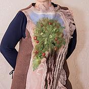 """Одежда ручной работы. Ярмарка Мастеров - ручная работа Жилет """"Яблоневый сад"""", нунофелтинг. Handmade."""