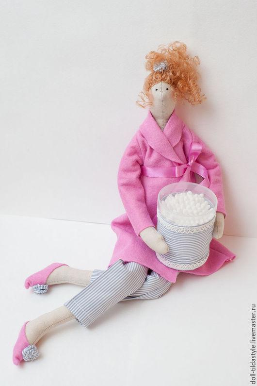 Куклы Тильды ручной работы. Ярмарка Мастеров - ручная работа. Купить Кукла Тильда - банная красавица в розовом халатике.. Handmade.