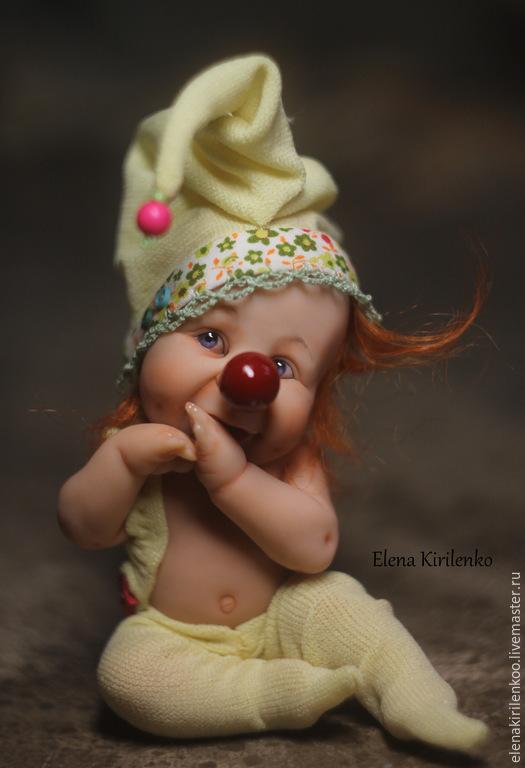 """Коллекционные куклы ручной работы. Ярмарка Мастеров - ручная работа. Купить """"Чуча"""". Handmade. Желтый, хлопок"""