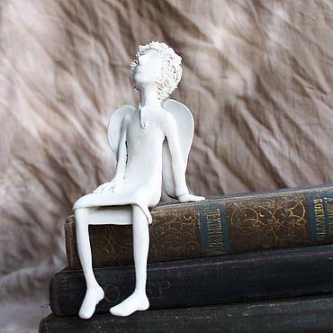 Для дома и интерьера ручной работы. Ярмарка Мастеров - ручная работа Скульптуры: Ангел для книжной полки. Handmade.