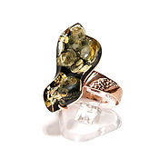 Украшения handmade. Livemaster - original item Silver ring with green amber