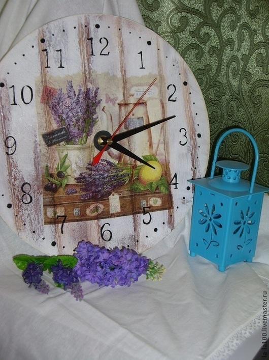 """Часы для дома ручной работы. Ярмарка Мастеров - ручная работа. Купить Часы """"Старый прованс"""". Handmade. Фиолетовый, Французский шарм"""