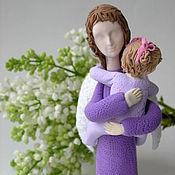 Куклы и игрушки ручной работы. Ярмарка Мастеров - ручная работа Ангел-мама в сиреневом. Handmade.