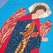 """Картины и панно ручной работы. Ярмарка Мастеров - ручная работа Лоскутное панно """"Северные Небеса"""". Handmade."""