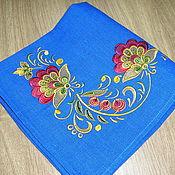 """Для дома и интерьера ручной работы. Ярмарка Мастеров - ручная работа салфетка""""золотая хохлома""""-2. Handmade."""
