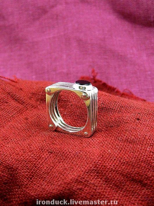"""Кольца ручной работы. Ярмарка Мастеров - ручная работа. Купить кольцо """"Радиатор"""". Handmade. Серебро, женское украшение, чёрный агат"""