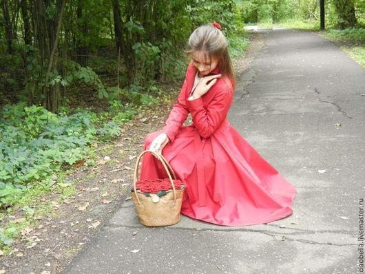 """Верхняя одежда ручной работы. Ярмарка Мастеров - ручная работа. Купить Плащ """"Джульетта"""". Handmade. Ярко-красный, бордовый плащ"""
