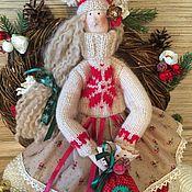 Куклы Тильда ручной работы. Ярмарка Мастеров - ручная работа Кукла тильда рождественский ангел фея. Handmade.