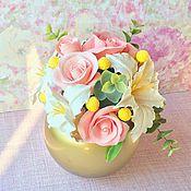 Цветы и флористика ручной работы. Ярмарка Мастеров - ручная работа Золотая ваниль. Handmade.