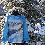 Одежда ручной работы. Ярмарка Мастеров - ручная работа валяная одежда свитер женский Карельская Зимушка. Handmade.