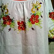 Одежда handmade. Livemaster - original item Embroidered shirt for women ZhR3-023. Handmade.