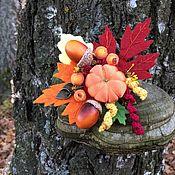 """Брошь-зажим ручной работы. Ярмарка Мастеров - ручная работа Брошь """"Осеннее очарование"""". Handmade."""