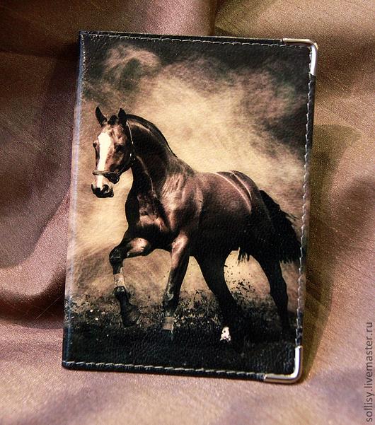 """Обложки ручной работы. Ярмарка Мастеров - ручная работа. Купить обложка """"Конь"""". Handmade. Натуральная кожа, подарок, природа"""