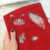 Полотенца ручной работы. Ярмарка Мастеров - ручная работа Полотенце с вышивкой. Handmade.