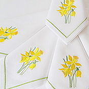 Swipe handmade. Livemaster - original item Napkin with embroidery