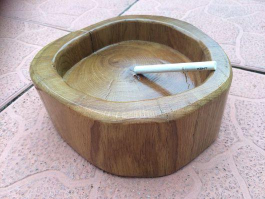 Персональные подарки ручной работы. Ярмарка Мастеров - ручная работа. Купить Пепельница из дуба малая. Handmade. Пепельница, пепельница из дерева