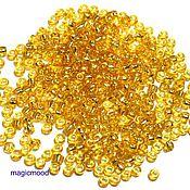 Материалы для творчества handmade. Livemaster - original item 10 grams Toho 8/0 22 light Topaz Japanese seed beads TOHO internal silvering. Handmade.