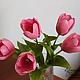 Цветы ручной работы. Ярмарка Мастеров - ручная работа. Купить Тюльпаны из полимерной глины (холодного фарфора). Цветы ручной работы. Handmade.
