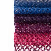 Аксессуары ручной работы. Ярмарка Мастеров - ручная работа Шарф ажурный Синий-фиолетовый-фуксия. Handmade.