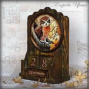 Канцелярские товары handmade. Livemaster - original item Perpetual calendar Owl. Handmade.