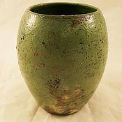 Для дома и интерьера ручной работы. Ярмарка Мастеров - ручная работа Зеленая ваза. Handmade.