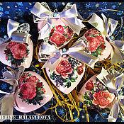 """Подарки к праздникам ручной работы. Ярмарка Мастеров - ручная работа Набор елочных игрушек """"Винтажное сердце"""". Handmade."""