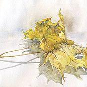 Картины и панно ручной работы. Ярмарка Мастеров - ручная работа Кленовые листья. Handmade.