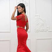 Одежда handmade. Livemaster - original item Evening kit red. Handmade.