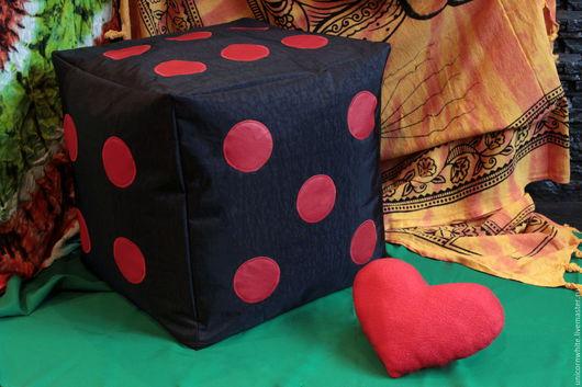 Мебель ручной работы. Ярмарка Мастеров - ручная работа. Купить Бескаркасный пуфик Д6. Handmade. Комбинированный, бескаркасная мебель