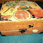 Для дома и интерьера ручной работы. Ярмарка Мастеров - ручная работа Декупаж Коробочка Апельсиновое Настроение. Handmade.