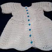 Работы для детей, ручной работы. Ярмарка Мастеров - ручная работа Белое ажурное платье для девочки. Handmade.