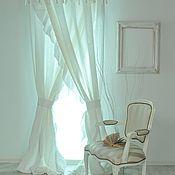 Для дома и интерьера ручной работы. Ярмарка Мастеров - ручная работа Шторы белые лен вуаль. Handmade.