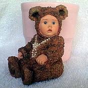 Материалы для творчества handmade. Livemaster - original item Baby dressed as a bear beads. Handmade.