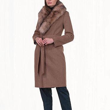 Одежда ручной работы. Ярмарка Мастеров - ручная работа Зимнее пальто с мехом 46П. Handmade.
