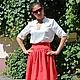 Блузки ручной работы. Ярмарка Мастеров - ручная работа. Купить Летний комплект юбка и блузка. Handmade. Юбка, блузка