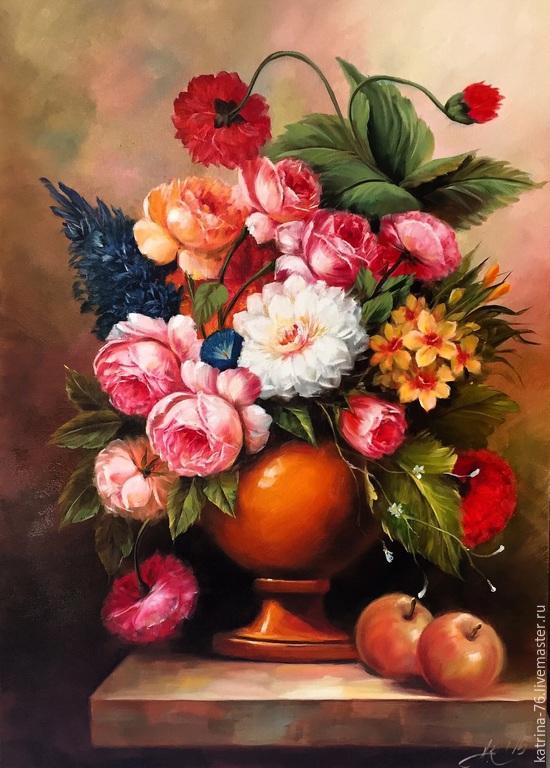 Постер Де Шантерейн. Натюрморт с летними цветами 247