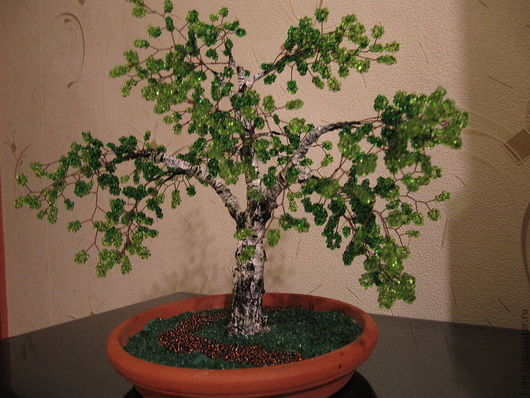 """Деревья ручной работы. Ярмарка Мастеров - ручная работа. Купить Березка """"Северная"""". Handmade. Бисерное дерево, береза, листва, весна"""