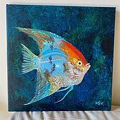 Картины и панно handmade. Livemaster - original item Picture 4 Cycle Exotic fish. Oil.. Handmade.