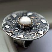Украшения ручной работы. Ярмарка Мастеров - ручная работа Кольцо серебро MAGIC: серебро, золото, винный топаз. Handmade.